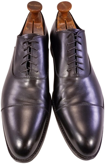 Item - Black Stylish Oxfords Leather Cap Toe Man Formal Shoes Size US 11 Extra Wide (Ww, Ee)