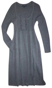 Gray Maxi Dress by Boden Longsleeve Wool Rib Knit Sweater Tunic