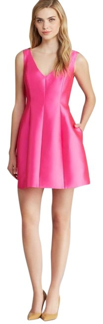 Item - Hot Pink Structured Silk Mini Mid-length Cocktail Dress Size 4 (S)