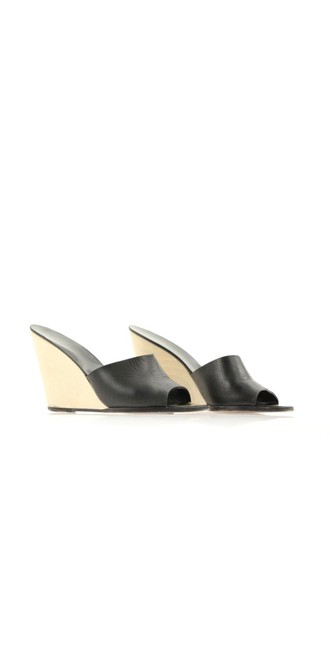 Item - Black and Light Stained Wood Cc Wedges Size EU 39.5 (Approx. US 9.5) Regular (M, B)