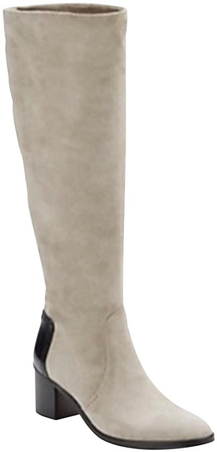 Item - Taupe Grey Suede Leather Boots/Booties Size EU 41 (Approx. US 11) Regular (M, B)