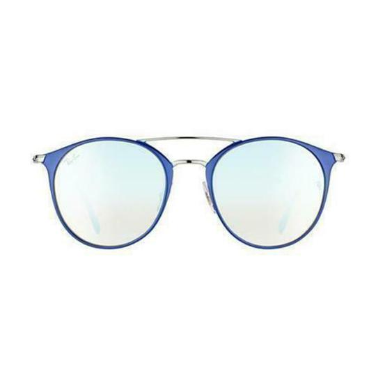 Ray Ban Silver Gradient & Mirrored Lens RB3546 90109U 52MM Round Unisex Image 1