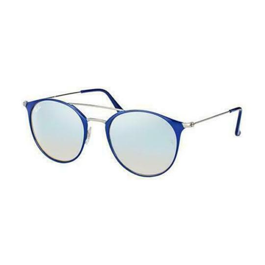 Ray Ban Silver Gradient & Mirrored Lens RB3546 90109U 52MM Round Unisex Image 2