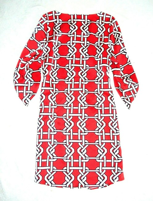 The Limited short dress Coral Lattice Print 3/4 Button Up Sleeve Shift Fully Lined on Tradesy Image 4