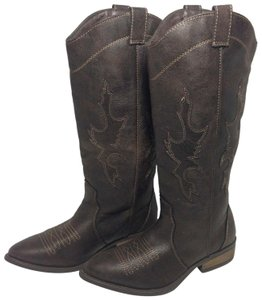 Rampage Faux Leather Brown Boots