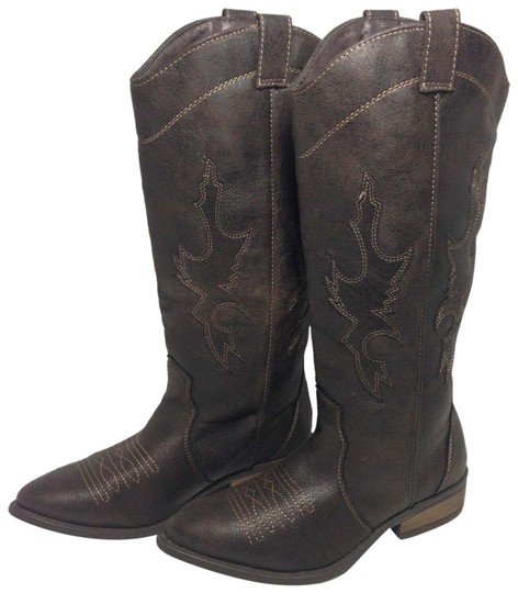 Rampage Faux Leather Brown Boots Image 0