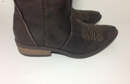 Rampage Faux Leather Brown Boots Image 1