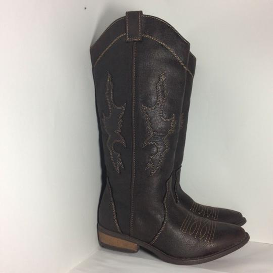 Rampage Faux Leather Brown Boots Image 2