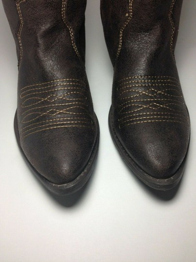 Rampage Faux Leather Brown Boots Image 4
