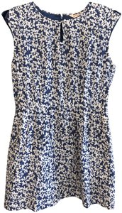 Brooks Brothers short dress Blue, White Floral Cotton Silk Style#95926026 on Tradesy