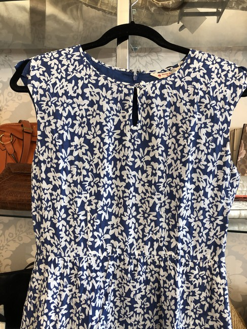 Brooks Brothers short dress Blue, White Floral Cotton Silk Style#95926026 on Tradesy Image 1