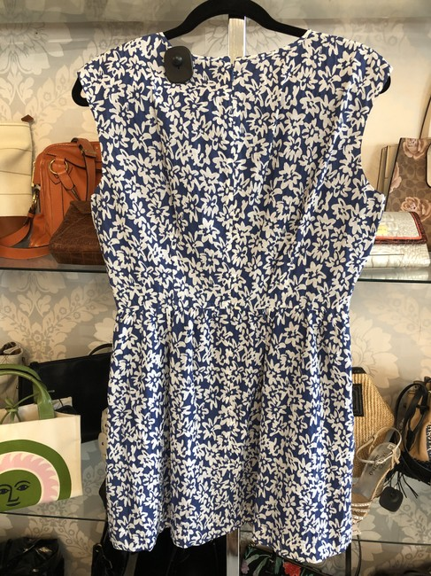 Brooks Brothers short dress Blue, White Floral Cotton Silk Style#95926026 on Tradesy Image 4