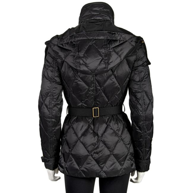 Burberry Nylon Diamond Pattern Adjustable Belted Women's Hook Stretch Pea Coat Image 1