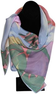 Anne Klein Beautiful Vintage Anne Klein for Vera Square Silk Flower Scarf