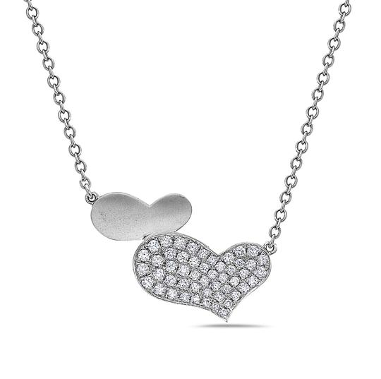 Preload https://img-static.tradesy.com/item/26354113/white-gold-18k-hearts-women-s-with-054-ct-diamonds-necklace-0-0-540-540.jpg
