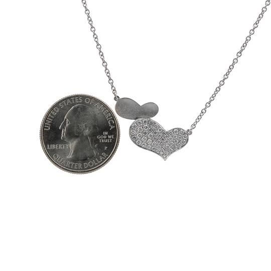 Omi Jewelry 18K White Gold Hearts Women's Necklace With 0.54 CT Diamonds Image 2