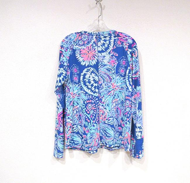 Lilly Pulitzer T Shirt Blue, Pink Image 1