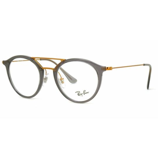 Preload https://img-static.tradesy.com/item/26354168/ray-ban-gray-gold-color-frame-and-demo-lens-rx7097-5633-47-round-unisex-0-0-540-540.jpg