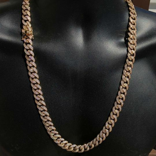 Harlembling Harlembling 14k Gold Plated Diamond 12mm Cuban Link Chain Image 3