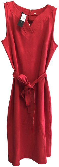 Preload https://img-static.tradesy.com/item/26354198/talbots-red-sleeveless-belted-style37828779-mid-length-short-casual-dress-size-6-s-0-2-650-650.jpg