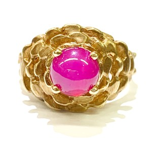 Other BEAUTIFUL!! GENUINE DEWITT ESTATE COLLECTION!! 14 Karat Yellow Gold and Pink Linde Ring