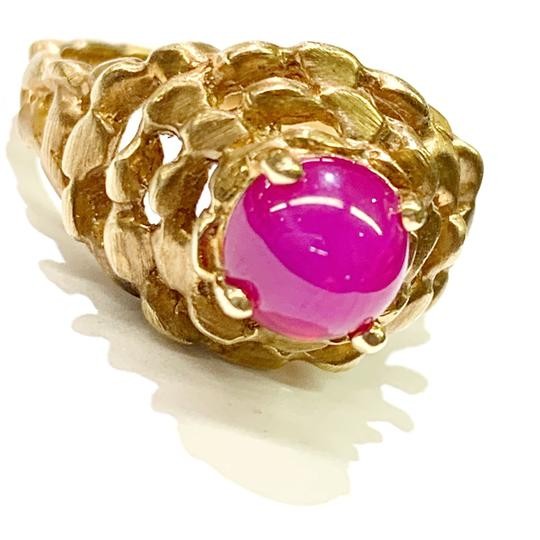 Other BEAUTIFUL!! GENUINE DEWITT ESTATE COLLECTION!! 14 Karat Yellow Gold and Pink Linde Ring Image 1