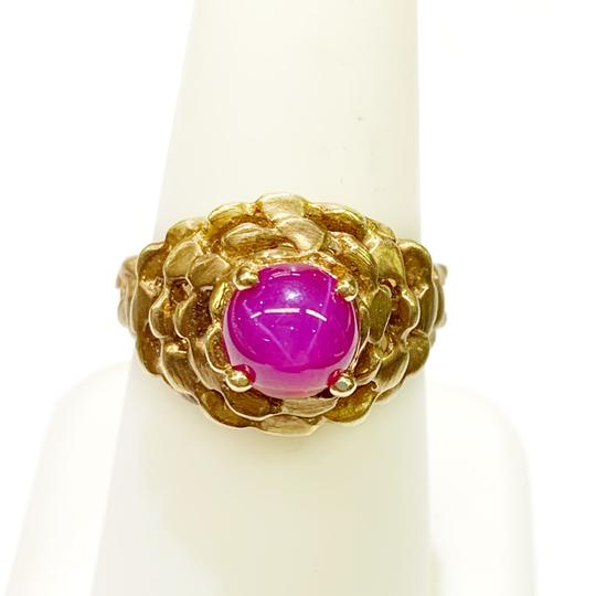 Other BEAUTIFUL!! GENUINE DEWITT ESTATE COLLECTION!! 14 Karat Yellow Gold and Pink Linde Ring Image 2