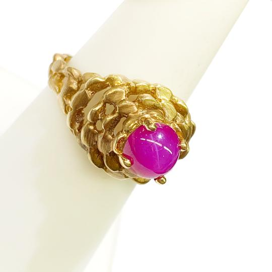 Other BEAUTIFUL!! GENUINE DEWITT ESTATE COLLECTION!! 14 Karat Yellow Gold and Pink Linde Ring Image 3