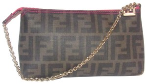Fendi Large F Logo Mint Condition Tobacco Gold Chain Strap/Fob Hot Hobo Pouch Satchel in brown Zucco print