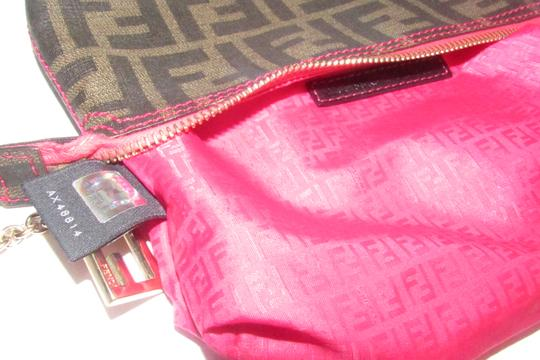 Fendi Large F Logo Mint Condition Tobacco Gold Chain Strap/Fob Hot Hobo Pouch Satchel in brown Zucco print Image 10