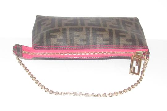 Fendi Large F Logo Mint Condition Tobacco Gold Chain Strap/Fob Hot Hobo Pouch Satchel in brown Zucco print Image 11