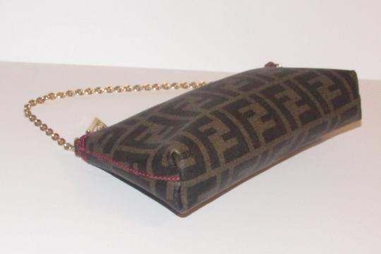 Fendi Large F Logo Mint Condition Tobacco Gold Chain Strap/Fob Hot Hobo Pouch Satchel in brown Zucco print Image 2