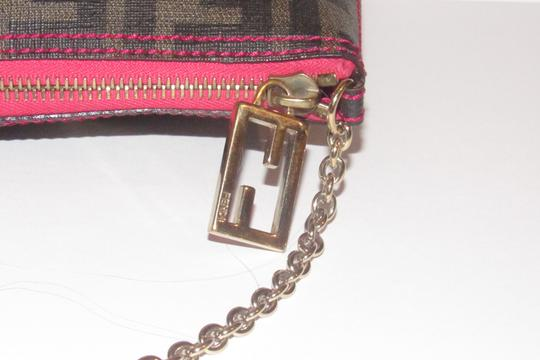 Fendi Large F Logo Mint Condition Tobacco Gold Chain Strap/Fob Hot Hobo Pouch Satchel in brown Zucco print Image 3