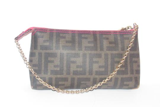 Fendi Large F Logo Mint Condition Tobacco Gold Chain Strap/Fob Hot Hobo Pouch Satchel in brown Zucco print Image 4