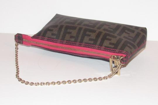 Fendi Large F Logo Mint Condition Tobacco Gold Chain Strap/Fob Hot Hobo Pouch Satchel in brown Zucco print Image 6