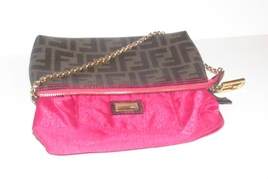 Fendi Large F Logo Mint Condition Tobacco Gold Chain Strap/Fob Hot Hobo Pouch Satchel in brown Zucco print Image 7