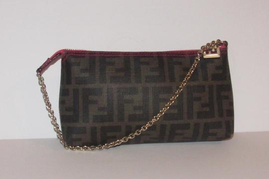 Fendi Large F Logo Mint Condition Tobacco Gold Chain Strap/Fob Hot Hobo Pouch Satchel in brown Zucco print Image 8