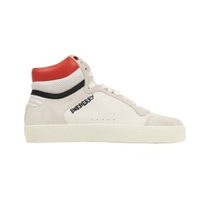 Burberry Leather Laces High Top Suede Graffiti White Athletic