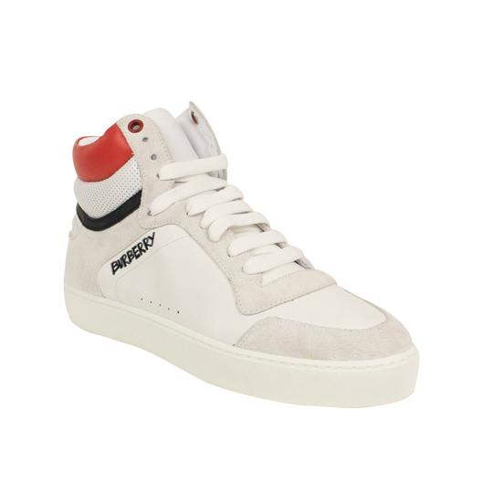 Burberry Leather Laces High Top Suede Graffiti White Athletic Image 1