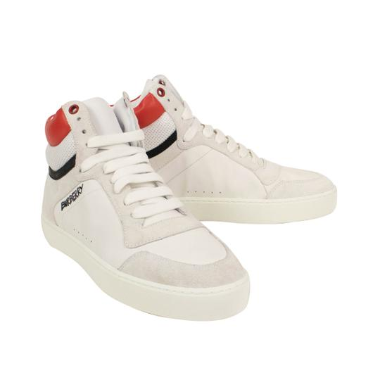 Burberry Leather Laces High Top Suede Graffiti White Athletic Image 2