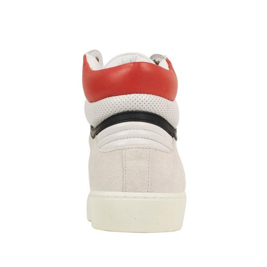 Burberry Leather Laces High Top Suede Graffiti White Athletic Image 4