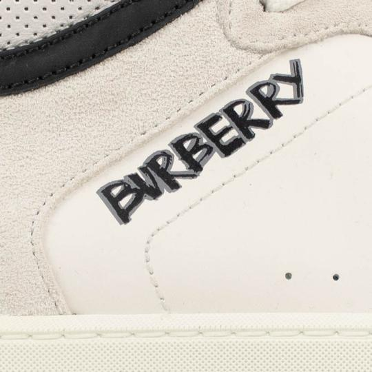 Burberry Leather Laces High Top Suede Graffiti White Athletic Image 5