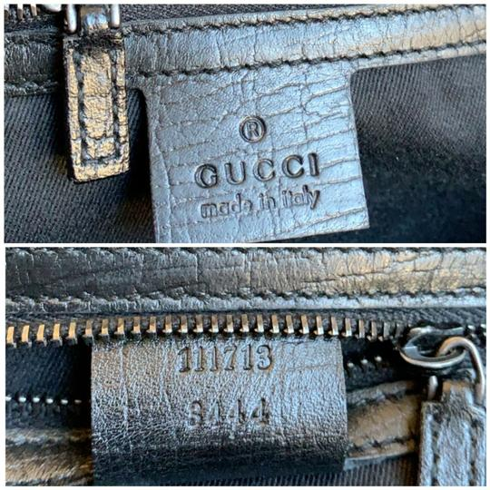 Gucci Tom Ford Monogram Leather Canvas Satchel in Black Image 10