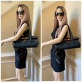 Gucci Tom Ford Monogram Leather Canvas Satchel in Black Image 3