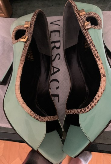 Versace Collection very light turquoise/blue Platforms Image 6