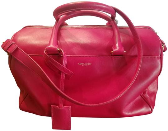 Preload https://img-static.tradesy.com/item/26354360/saint-laurent-6-hour-duffel-fushia-pink-leather-cross-body-bag-0-2-540-540.jpg