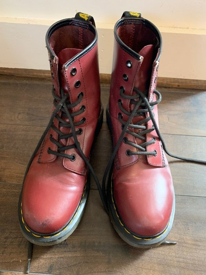 Dr. Martens Cherry Red Boots Image 4