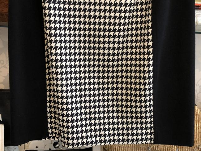 MICHAEL Michael Kors Stretchy Pencil Straight Hounds-tooth Petite Skirt Black, White Image 2