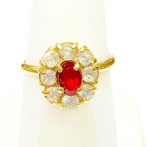 Other BEAUTIFUL!! GENUINE DEWITT ESTATE COLLECTION!! 18 Karat Yellow Gold, CZ and Synthetic Ruby Ring