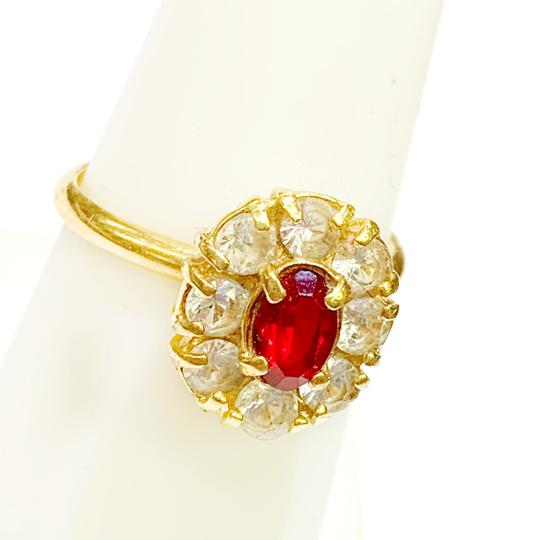 Other BEAUTIFUL!! GENUINE DEWITT ESTATE COLLECTION!! 18 Karat Yellow Gold, CZ and Synthetic Ruby Ring Image 1
